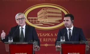 Ζάεφ: Λύση που θα σέβεται το λαό μας - Γιούνκερ: Συνεχίστε τις προσπάθειες