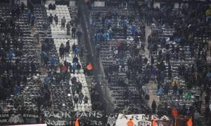 ΠΑΟΚ - Ολυμπιακός: «Καίγεται» η Τούμπα - Σοβαρά επεισόδια έξω από το γήπεδο