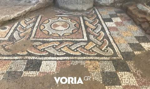 Multi-colored mosaics found during metro excavation in Thessaloniki belong to large Roman villa