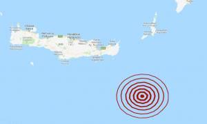Σεισμός ΤΩΡΑ νοτιοανατολικά της Κρήτης (pics)