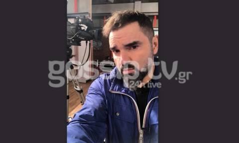 Ο Νάσος Γουμενίδης μεταδίδει μέσα από το στούντιο του E TV τι γίνεται μετά τα τηλεφωνήματα για βόμβα