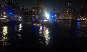 ΗΠΑ: Συντριβή ελικοπτέρου στο Ιστ Ρίβερ της Νέας Υόρκης - Δείτε τη στιγμή της πτώσης! (vid)