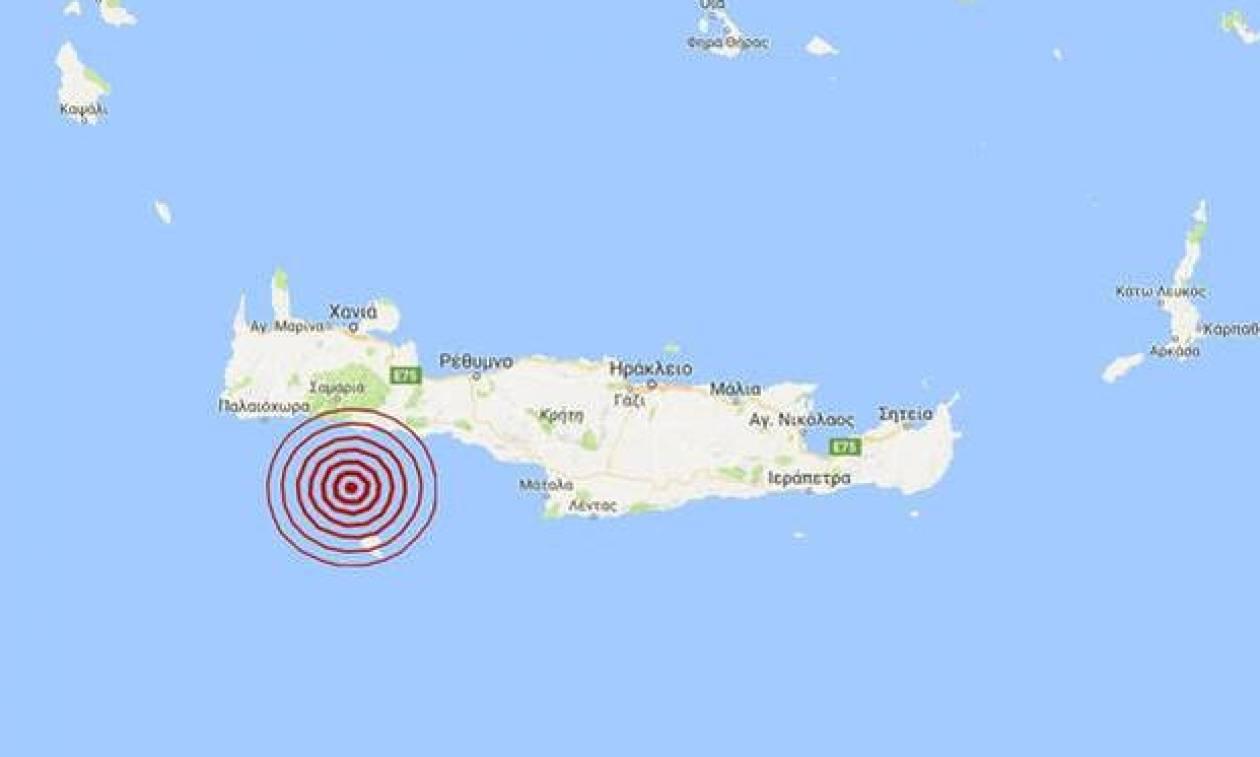 В Греции в районе Гавдоса произошло землетрясение