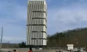 Ελεγχόμενη έκρηξη έκανε σκόνη το ψηλότερο κτήριο στο Κεντάκι