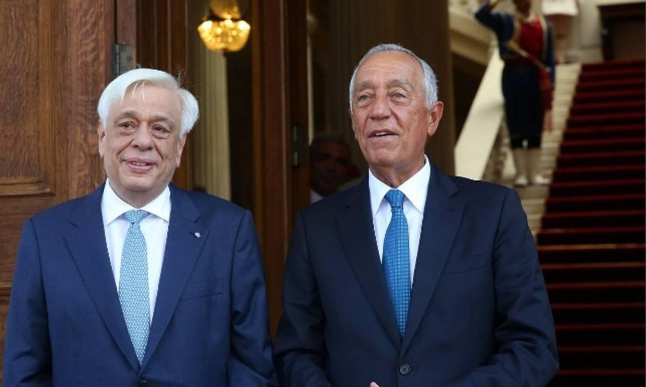 Συναντήσεις Παυλόπουλου, Τσίπρα με τον Πρόεδρο της Πορτογαλίας
