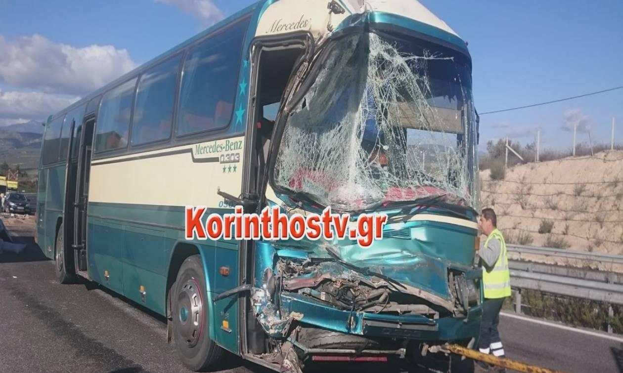 Σοβαρό τροχαίο με λεωφορείο του ΚΤΕΛ στην Εθνική Οδό Κορίνθου – Τρίπολης - Εικόνες σοκ