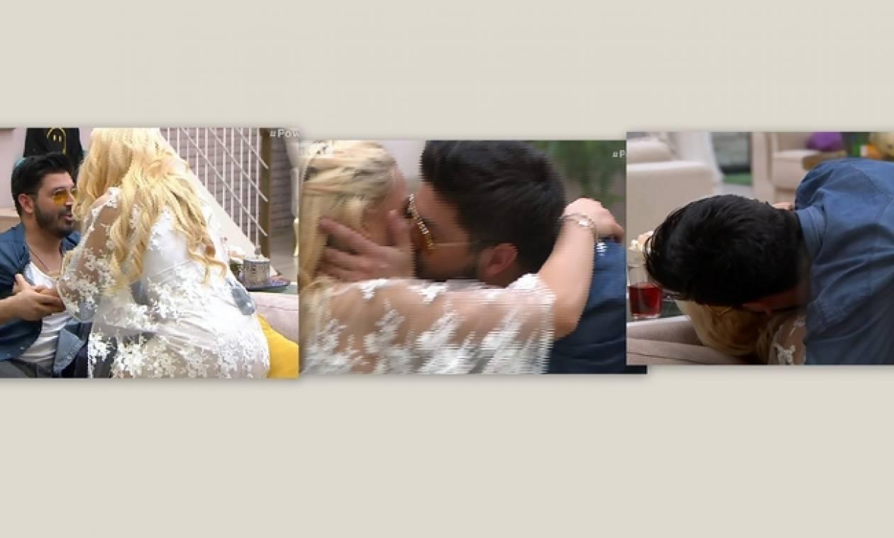 Power Of Love: Τα φιλιά Πάνου – Στέλλας στο σπίτι του έρωτα