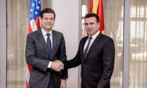 ΗΠΑ: Στηρίζουμε Ελλάδα και Σκόπια στην προσπάθεια λύσης στο ζήτημα της ονομασίας