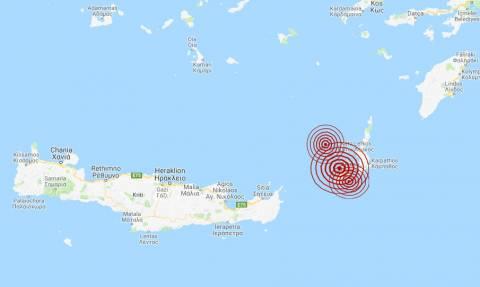 Σεισμός ΤΩΡΑ: Τρεις σεισμικές δονήσεις κοντά στην Κάσο (pics)