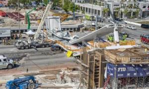 ΗΠΑ: Τέσσερις νεκροί από κατάρρευση πεζογέφυρας στο Μαϊάμι (pics+vid)