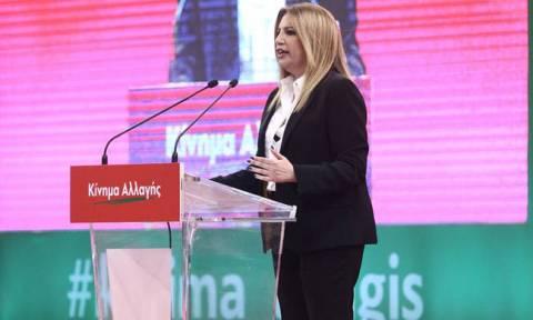 Gennimata says Movement for Change will have an autonomous political role