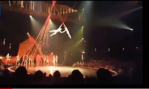 Προσοχή - Σκληρό βίντεο: Ακροβάτης του Cirque du Soleil πέφτει στο κενό και σκοτώνεται