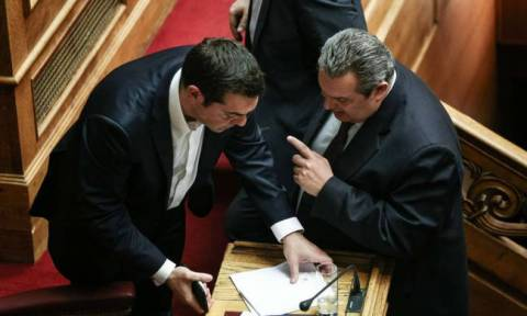 PM Tsipras to meet Defence Minister Kammenos on Tuesday