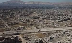 H Γούτα δεν υπάρχει πια: Drone καταγράφει συγκλονιστικές εικόνες καταστροφής