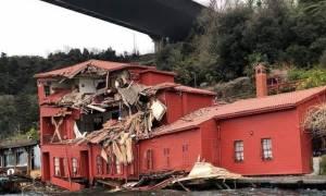 Βίντεο που κόβει την ανάσα: Tάνκερ πέφτει πάνω σε κτίριο στο Βόσπορο!