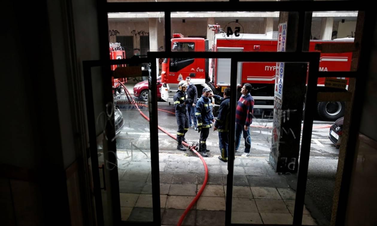 Φωτιά στο κέντρο της Θεσσαλονίκης