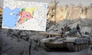 Πόλεμος στη Μεσόγειο: Αυτός είναι ο διαδραστικός χάρτης του πολέμου στη Συρία (pics)