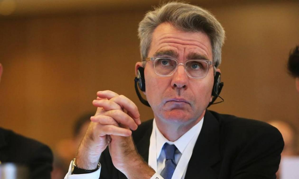 Στο Υπουργείο Εθνικής Άμυνας ο πρέσβης των ΗΠΑ Τζέφρι Πάιατ