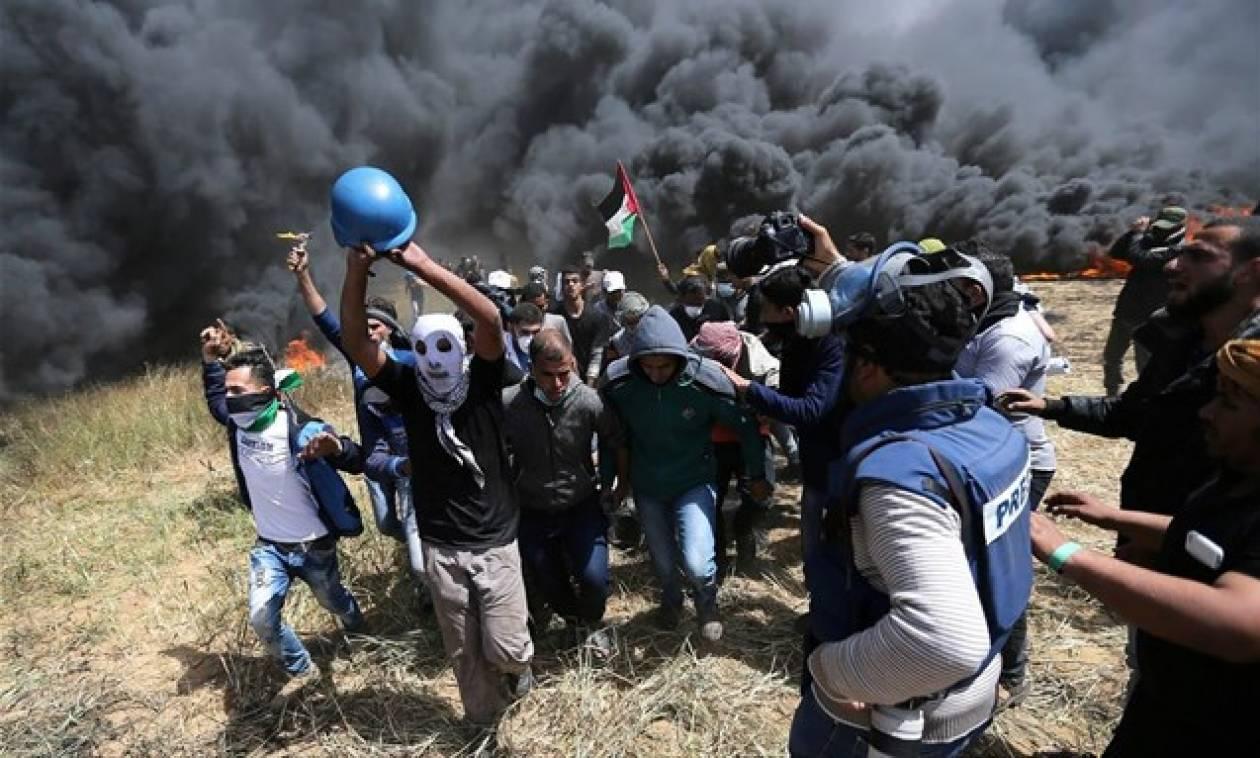 Λωρίδα της Γάζας: Ένας νεκρός και εκατοντάδες τραυματίες από ισραηλινά πυρά