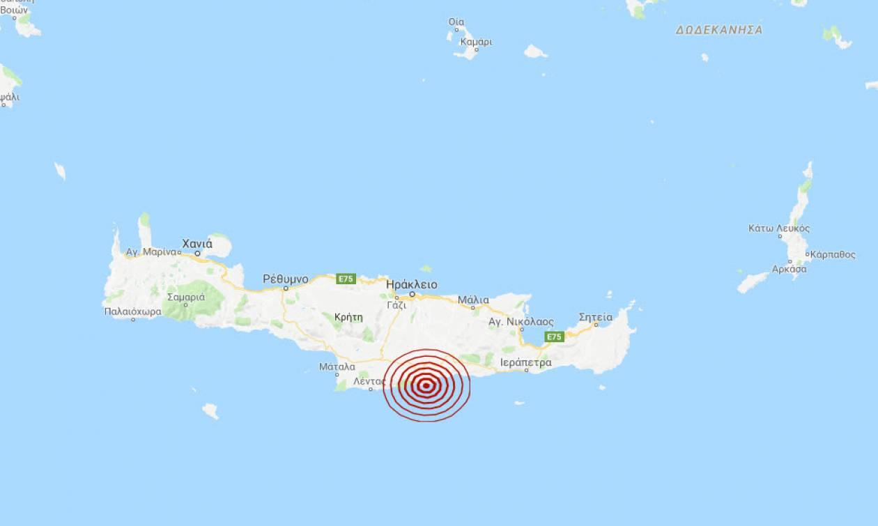 Σεισμός νότια του Ηρακλείου Κρήτης (pic)