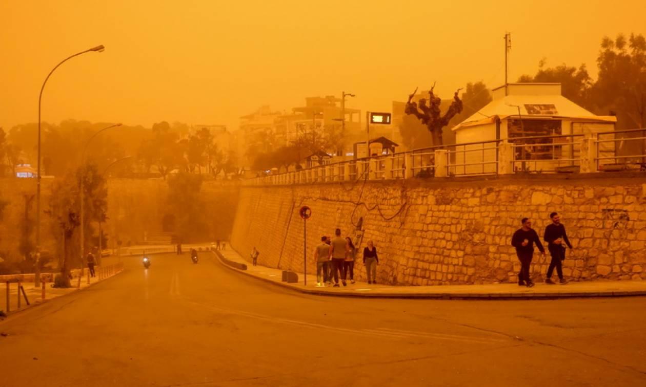 Προσοχή! Μεγάλη ποσότητα σκόνης από την Αφρική στην ατμόσφαιρα τις επόμενες ώρες