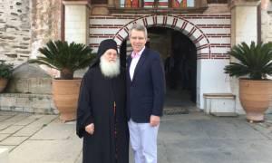 Εντυπωσιασμένος ο Τζέφρι Πάιατ από την επίσκεψη στο Άγιον Όρος