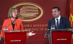 Σκοπιανό: Αισιοδοξία από Ζάεφ και Μογκερίνι για το ονοματολογικό