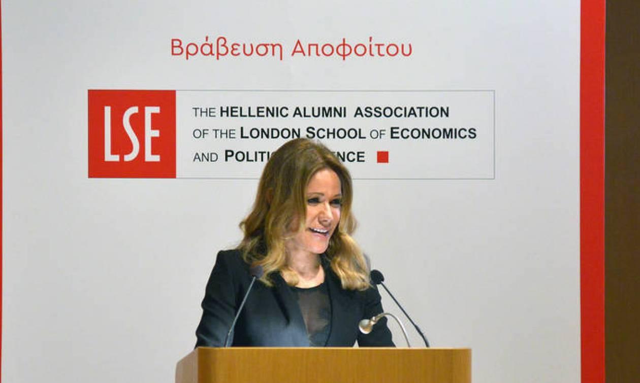 Ο Ελληνικός Σύλλογος αποφοίτων του LSE βράβευσε την Μαριάννα Λάτση