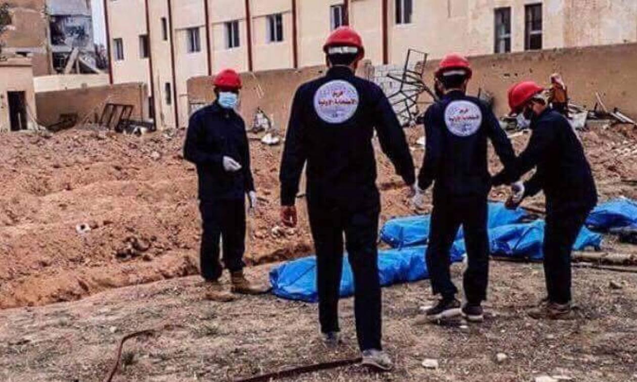 Φρίκη στη Συρία: Ανακαλύφθηκαν δεκάδες πτώματα σε γήπεδο ποδοσφαίρου (Pics)