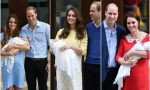 Kate Middleton: Οι τρεις έξοδοι της από το μαιευτήριο είναι ολόιδιες μεταξύ τους