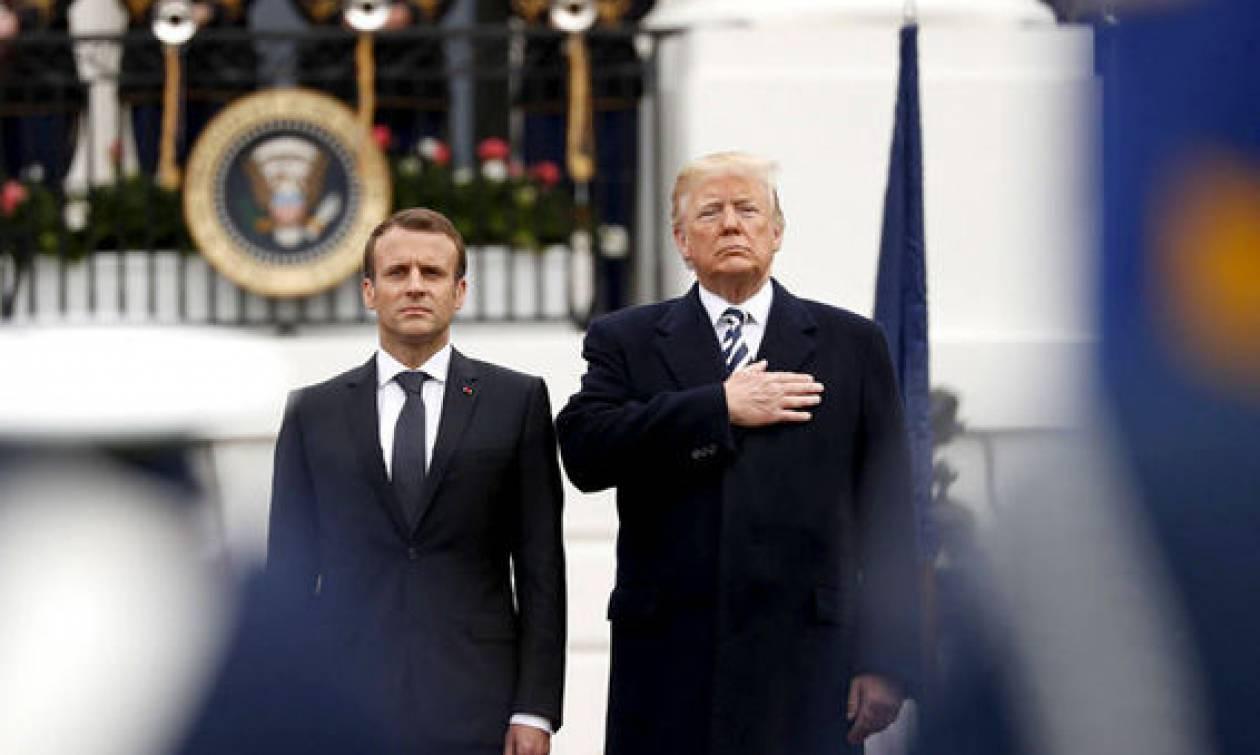 Φόρο τιμής στον ήρωα Γάλλο συνταγματάρχη Αρνό Μπελτράμ απέτισε ο Τραμπ