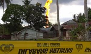 Ινδονησία: Δέκα νεκροί από πυρκαγιά σε πετρελαιοπηγή (video)