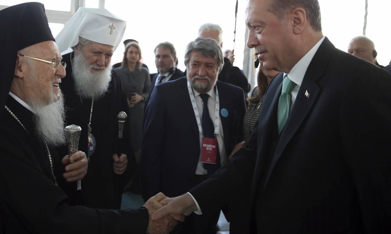 Με τον Πατριάρχη Βαρθολομαίο συναντάται σήμερα ο Ερντογάν