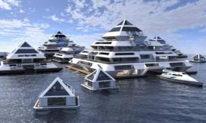 Πώς γίνεται αυτό; Φτιάχνουν πόλη που επιπλέει στη θάλασσα! (vid)