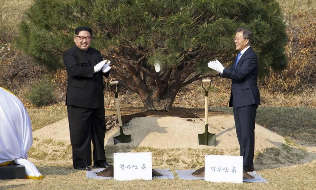 Ιστορική στιγμή: Βόρεια και Νότια Κορέα υπέγραψαν συνθήκη ειρήνης (pics)