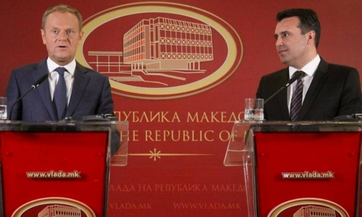 O Τουσκ μίλησε στα Σκόπια σε «άπταιστα μακεδονικά» (video)