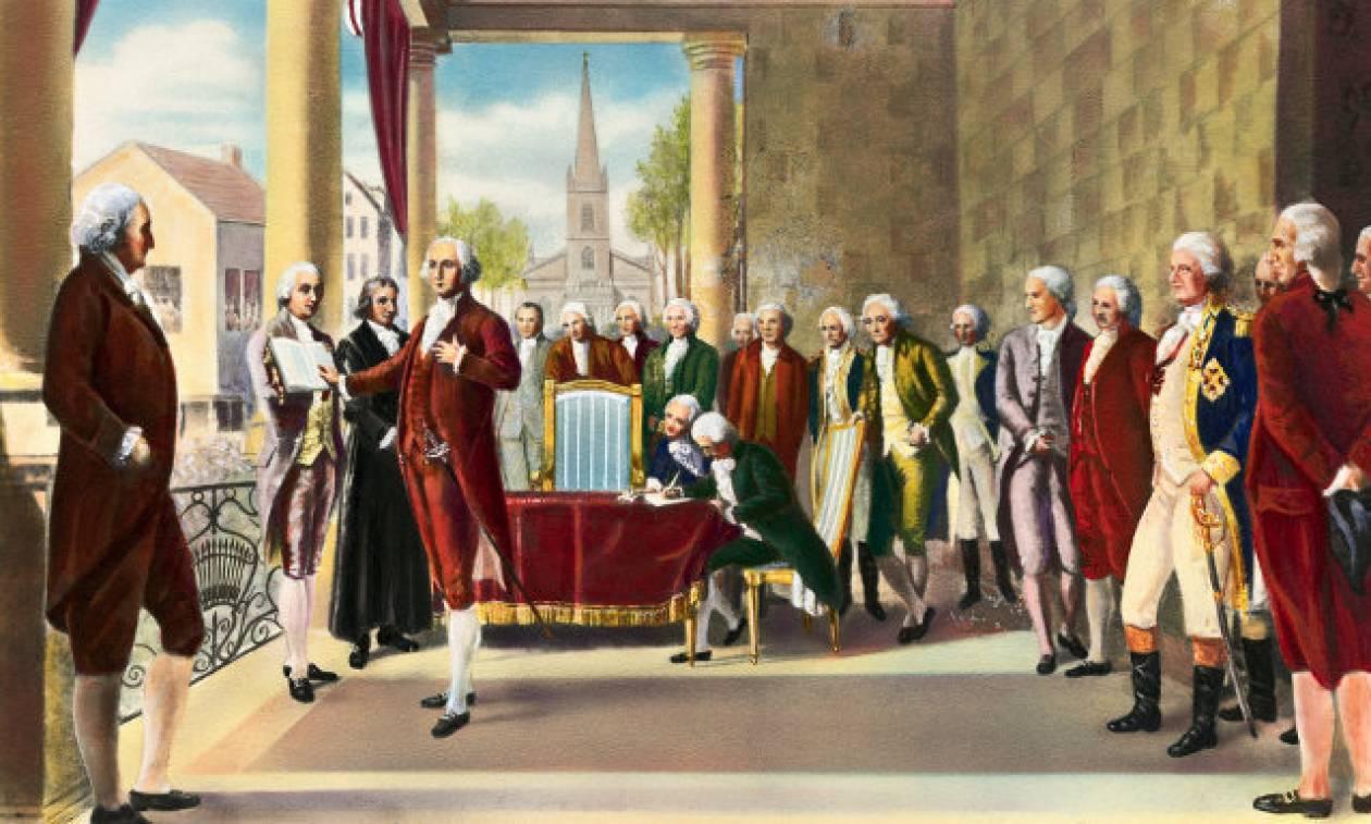 Σαν σήμερα το 1789 ο Τζορτζ Ουάσινγκτον ορκίζεται πρώτος πρόεδρος των ΗΠΑ