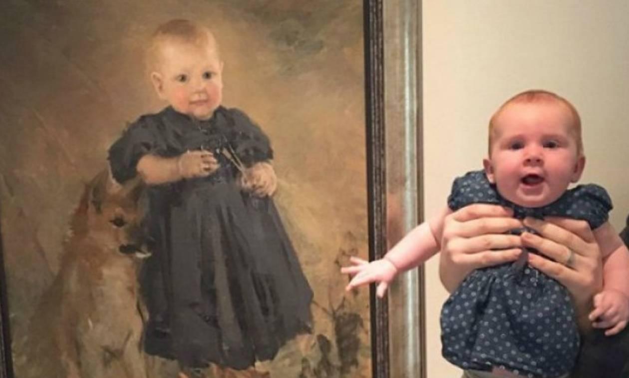 Απίστευτο: Πήγαν στο μουσείο και βρήκαν τους... σωσίες τους! (photos)