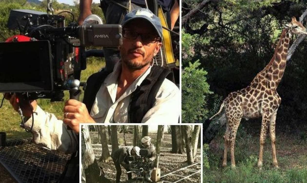 Σοκ: Βραβευμένος σκηνοθέτης σκοτώθηκε από καμηλοπάρδαλη (vid+pics)