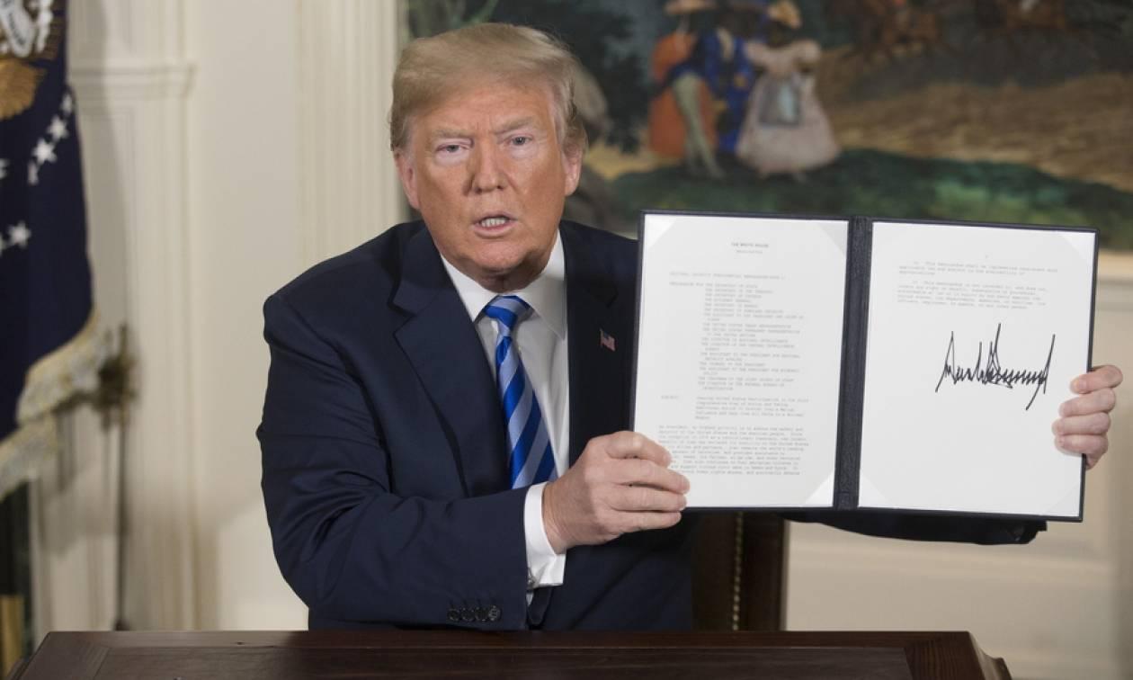 ΗΠΑ: Ο Τραμπ υπέγραψε το διάταγμα για την επαναφορά των κυρώσεων εις βάρος του Ιράν