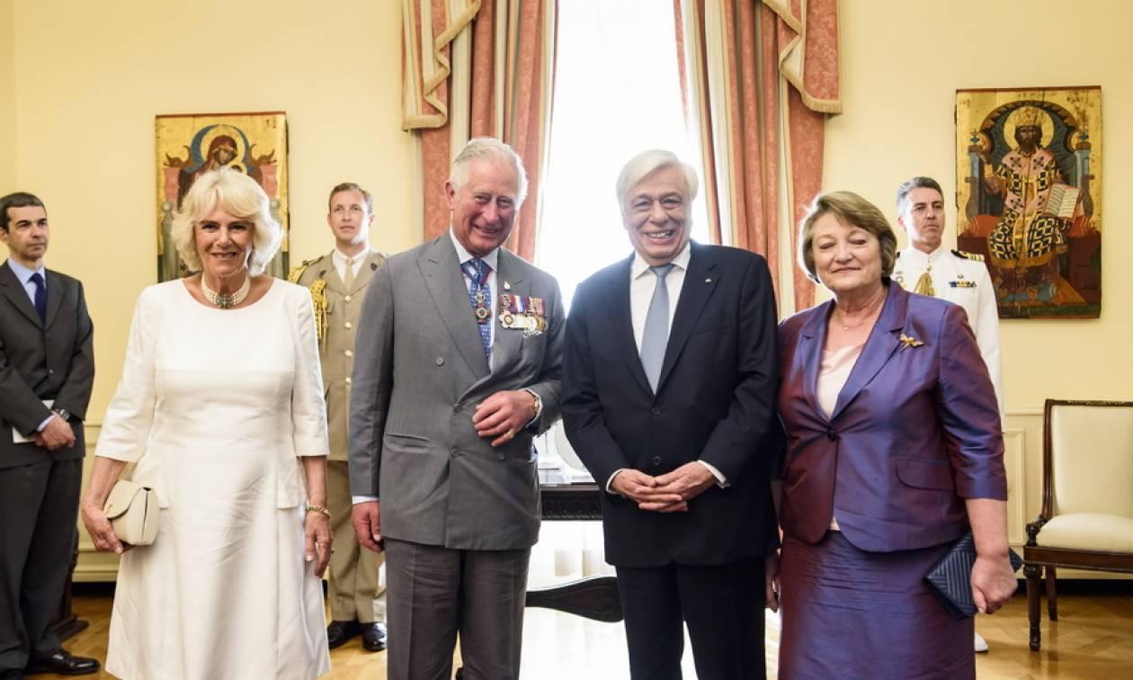 Συνεχίζεται η επίσκεψη στην Ελλάδα για τον πρίγκιπα Κάρολο και την Καμίλα Πάρκερ Μπόουλς