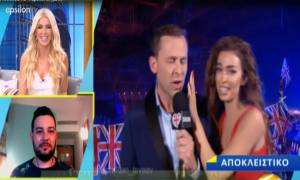Eurovision 2018: Η Φουρέιρα βγήκε στο BBC και «τραυμάτισε» τον δημοσιογράφο με τα μαλλιά της!