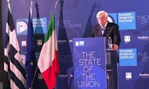 Προκόπης Παυλόπουλος: Εάν η ΕΕ δεν εφαρμόσει την αρχή της Αλληλεγγύης, ο λαϊκισμός θα θριαμβεύσει
