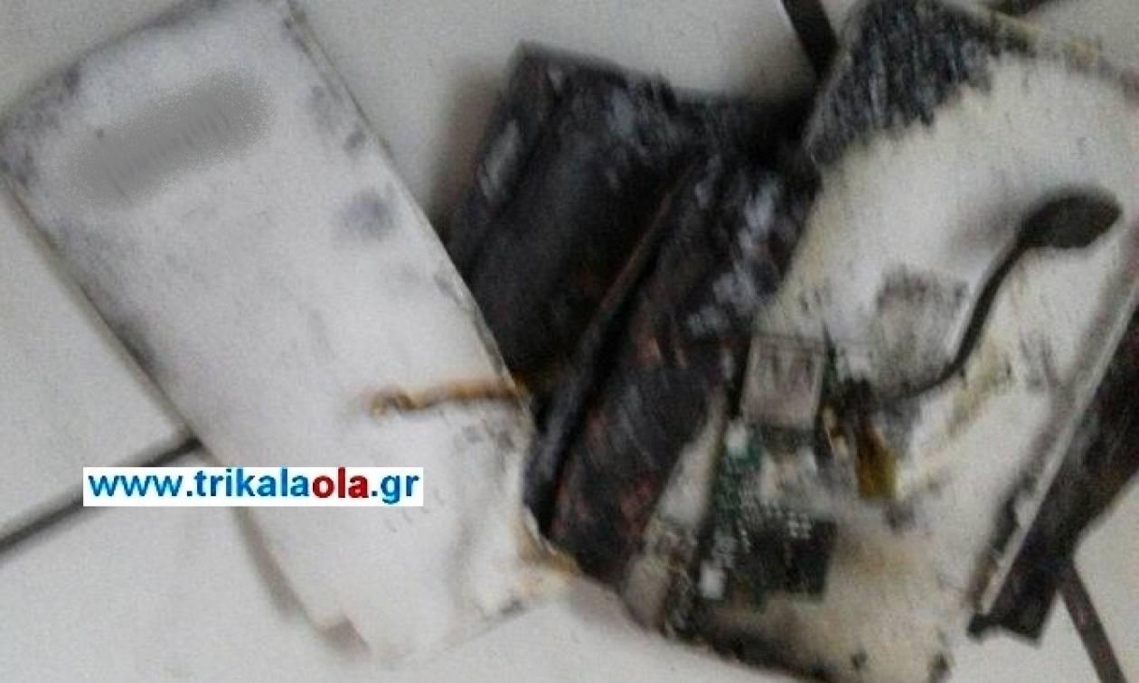 Τρίκαλα: Εξερράγη power bank - Δεν ήταν καν στην πρίζα (pics)