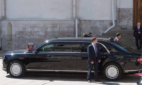 Американский журнал сравнил лимузины Путина и Трампа