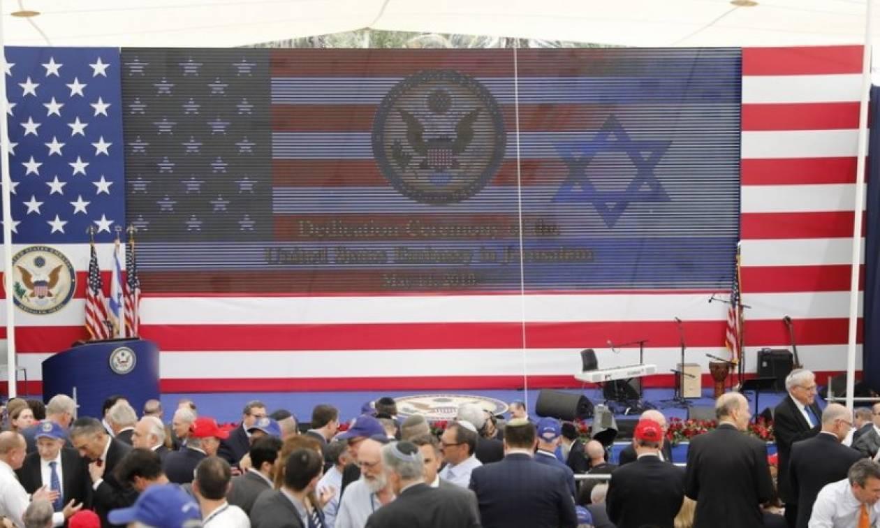Βουτηγμένα στο αίμα τα εγκαίνια της Αμερικανικής Πρεσβείας στην Ιερουσαλήμ (vids+pics)