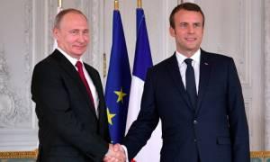 Τηλεφωνική επικοινωνία Μακρόν με Πούτιν και Νετανιάχου