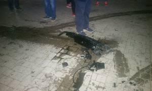 Παραλίγο τραγωδία στη Βέροια: Αυτοκίνητο καρφώθηκε σε φροντιστήριο (pics&vid)