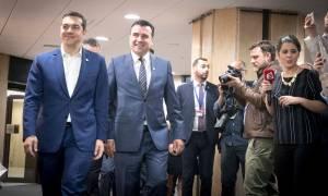 LIVE - Σκοπιανό: Ολοκληρώθηκε η συνάντηση Τσίπρα - Ζάεφ - Συγκρατημένη αισιοδοξία για το όνομα
