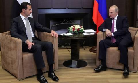 Путин провел в Сочи переговоры с Асадом